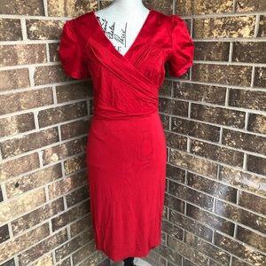 Mango Red Midi Dress Size L